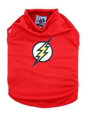 Camiseta para Cachorros Coleção Verão Divertido Flash Cão Vermelha