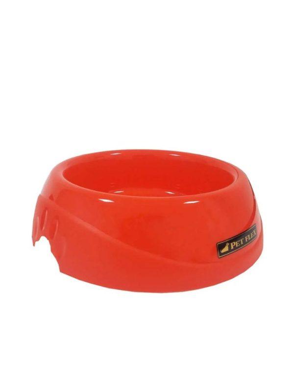 Comedouro Bistrô para Cães 600ml Vermelho Pet Flex Indicado para Cães de pequeno e médio porte Capacidade: 600 ml Medidas aproximadas: Diâmetro interno: 13 cm Diâmetro externo: 19 cm Altura: 4,5 cm Material: Resina termoplástica
