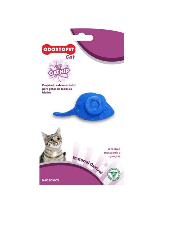 Mouse Cat com Catnip Azul Odontopet