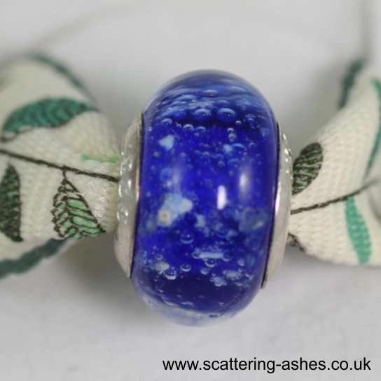 Pandora Ashes Charm Bead - Blue