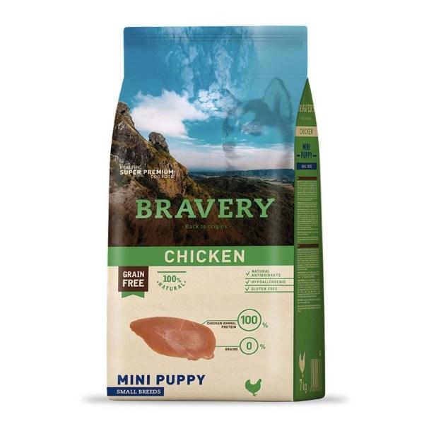 Bravery Mini Puppy Pollo 2 Kg