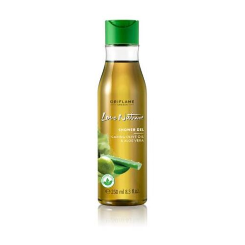 32608 oriflame - Gel tắm Oriflame Love Nature Shower Gel with Moisturising Olive Oil & Aloe Vera dầu Ôliu và Nha Đam 250ml