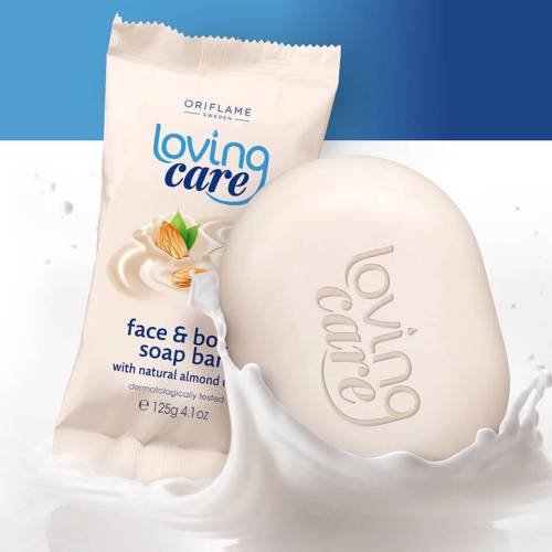 thanh xà phòng tắm oriflame loving care face and body soap bar 34066