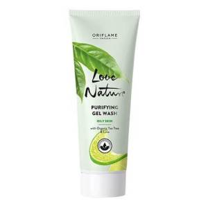 34841 oriflame - sữa rửa mặt love nature Purifying Gel Wash with Organic Tea Tree & Lime