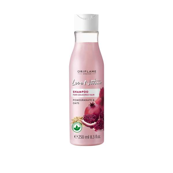 34832 oriflame - dầu gội Love Nature Shampoo for Coloured Hair Pomegranate & Oats