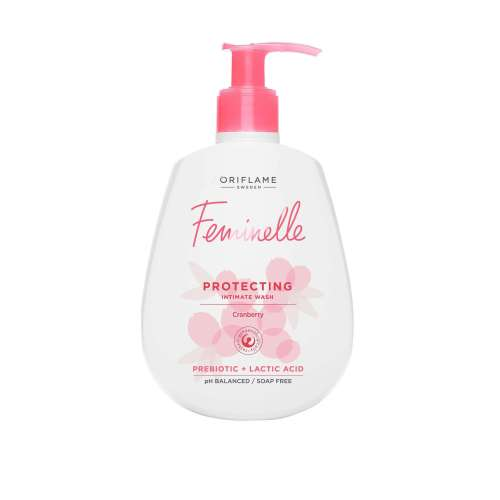 34498 oriflame - dung dịch vệ sinh phụ nữ Feminelle Protecting Intimate Wash Cranberry