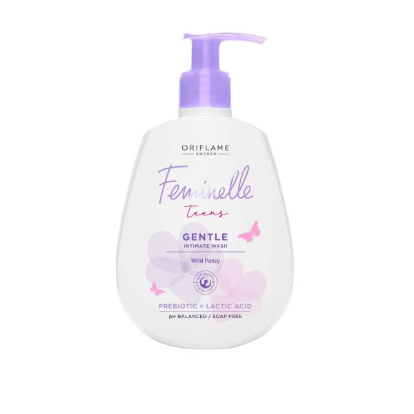 34501 oriflame - dung dịch vệ sinh phụ nữ Feminelle Protecting Intimate Wash Cranberry