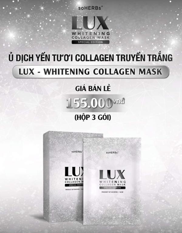 Ủ Yến Collagen LUX Giúp Dưỡng Trắng Da Hiệu Quả
