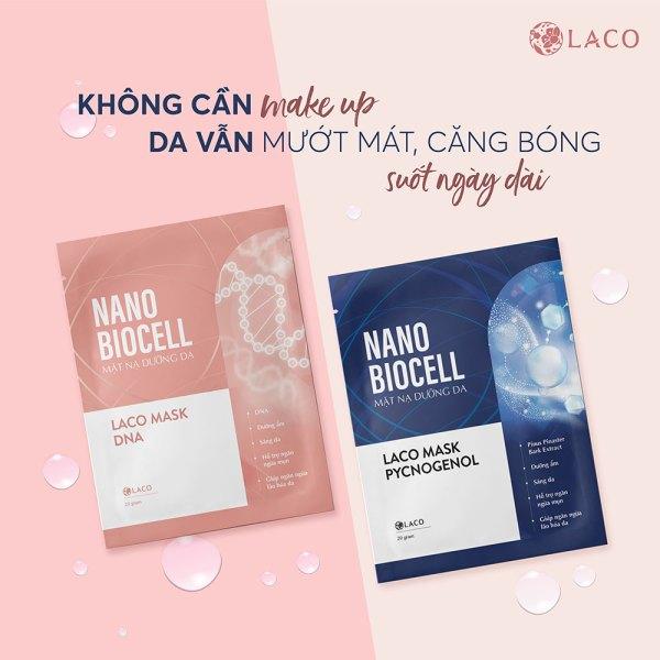 Mặt Nạ Laco Nano Biocell Dưỡng Ẩm Sáng Da Ngừa Mụn