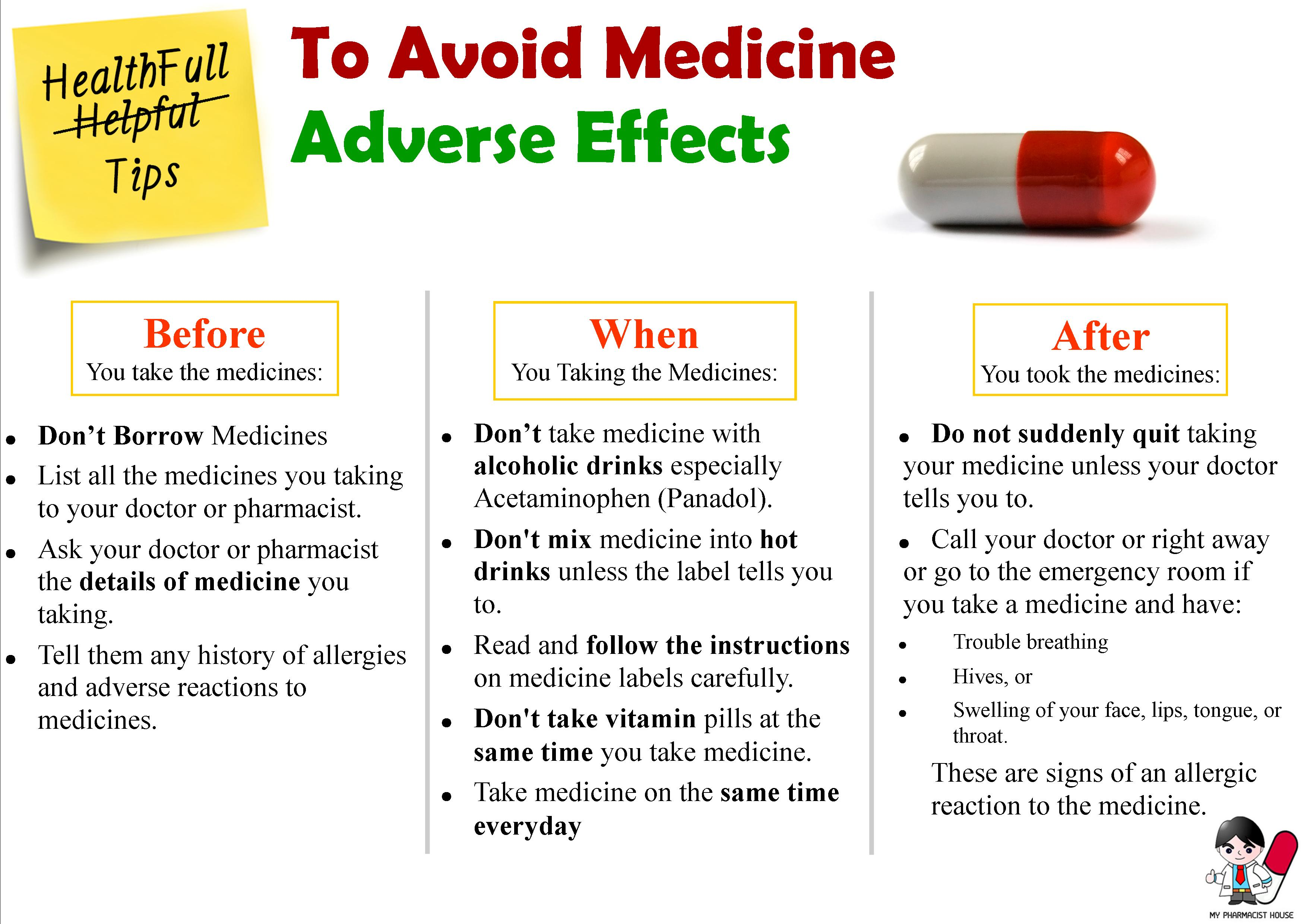 Healthful Tips To Avoid Medicine Adverse Effects