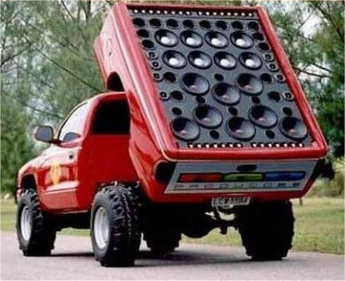Truck-with-giant-speaker-array