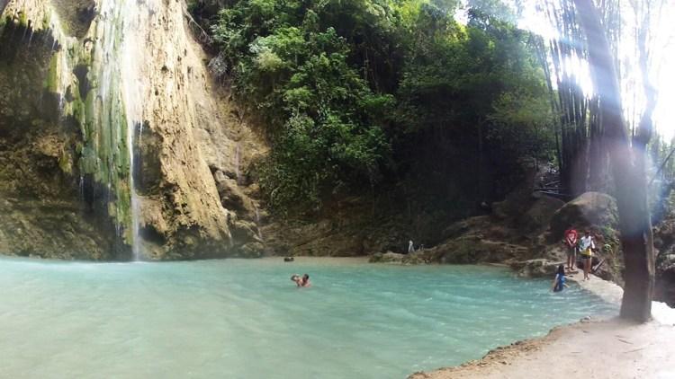Pools beneath falls