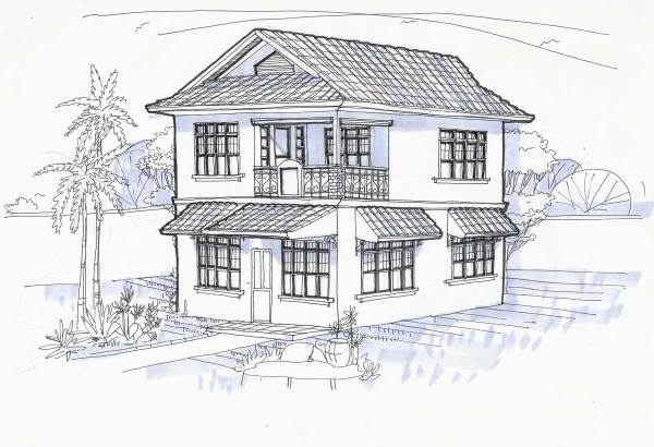 Perspective Drawing for our Tigbauan House
