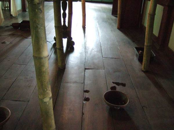 Leaking roof drips onto floor to die for - Balay Negrenese Museum, Gaston Ancestral Home, Silay