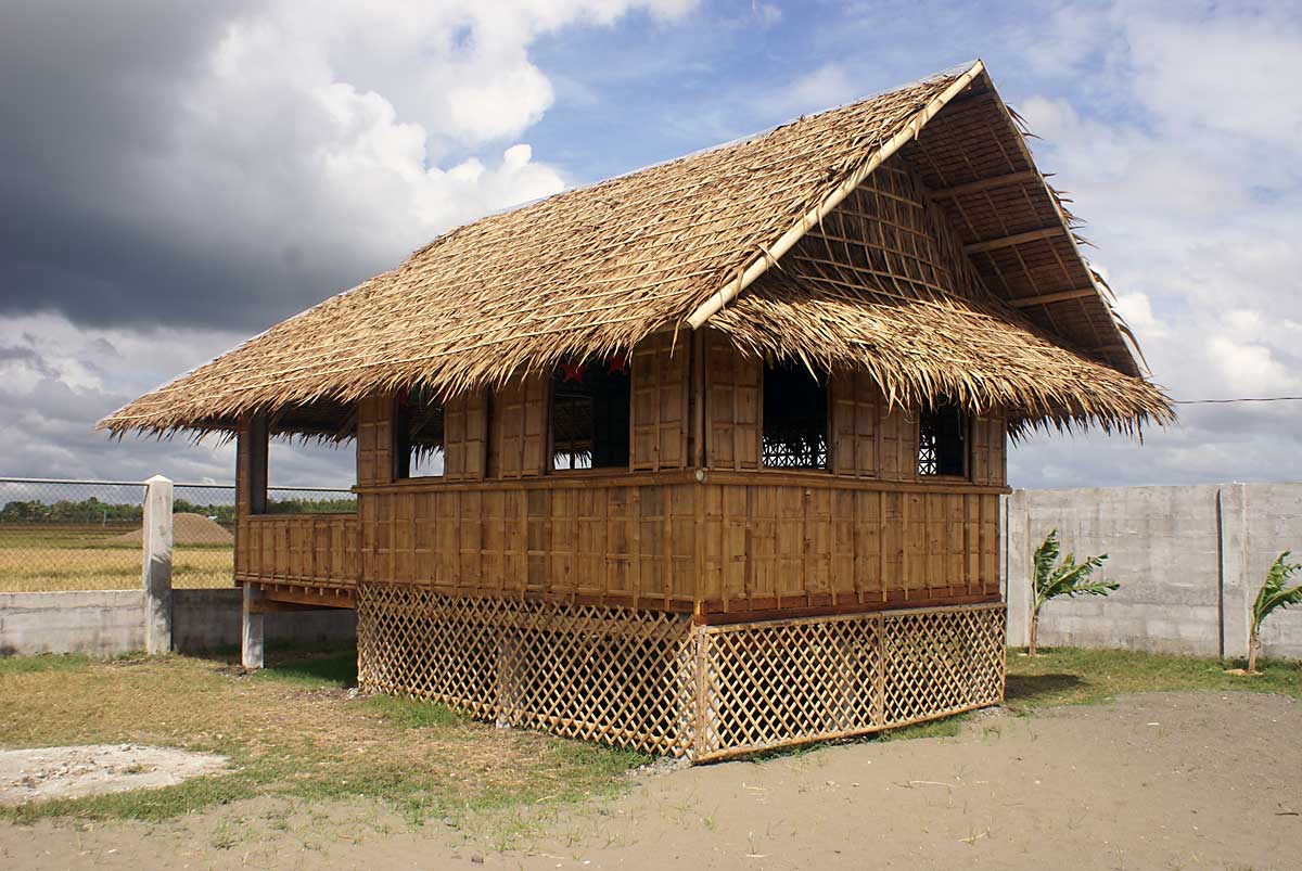 We build a    bahay kubo    bamboo guest house   My Philippine Life The completed bahay kubo  Thirty five days labor and  1 500 00