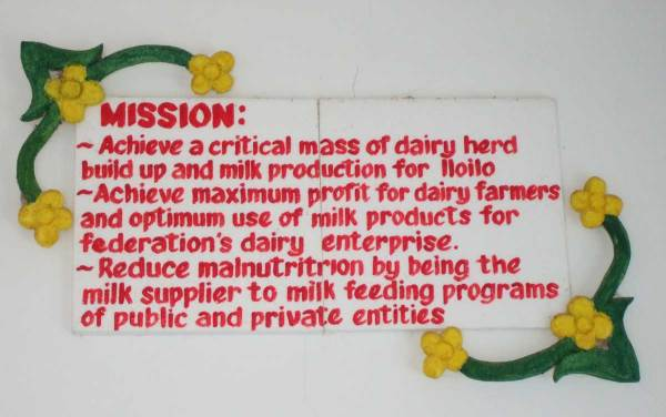 Mission Statement - Tigbauan, Iloilo Milk Processing Plant