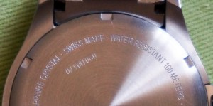 """On the outside """"Swiss Made"""" is embossed."""