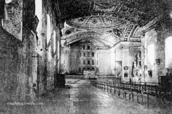 Tigbauan Church Interior 1909