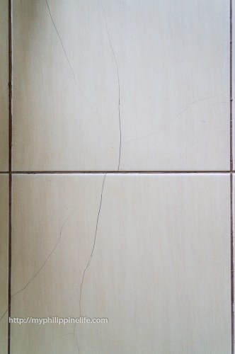 2016. Cracks in tiles.