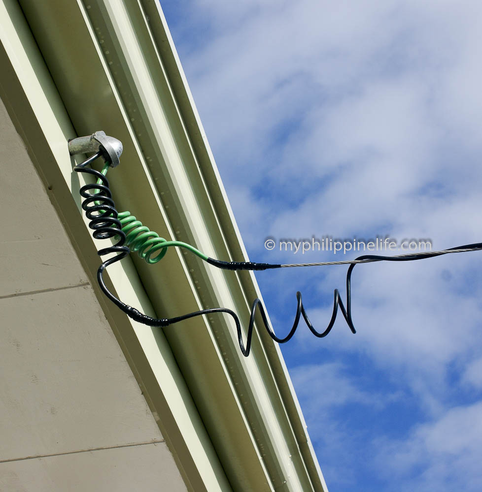 Philippine electrical wiring building our philippine house my duplex cable from meter to weather head greentooth Images