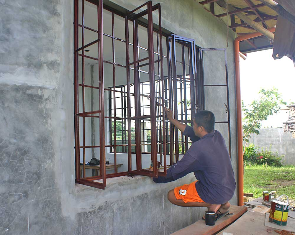 Our philippine house project paint and painting my for Window grills design in the philippines