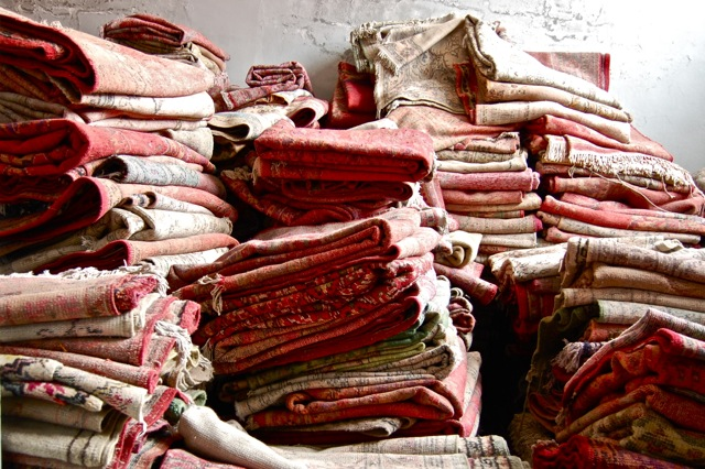 RUGS FROM ALL OVER ANATOLIA AWAITING A NEW LIFE.