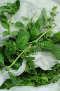 Fresh herbs for food styling - My Custard Pie