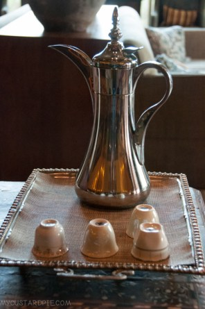 Arabic cardamom scented coffee on tap