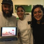 Meeta, Dima and Riath from Balqees Honey at fotodubai2015- My Custard Pie