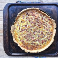 My ham quiche which I couldn't eat as going vegetarian in January! In my kitchen on mycustardpie