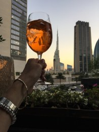 Watching the sunset from Robertos terrace in Dubai drinking cocktails. To find a recipe for gin cocktails with a twist visit mycustardpie.com