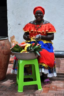 """Palenquera"" Traditional fruit vendor black woman"