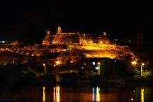 Night panoramic view of the San Felipe de Barajas Castle