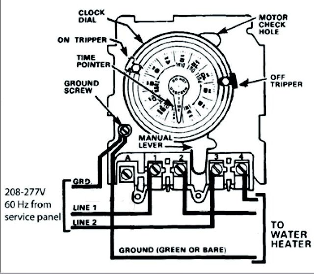 need help wiring an intermatic wh40 water heater time switch