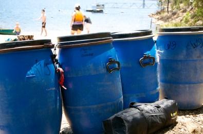 kangaroo valley - luggage in barrels