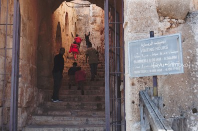 Going in, Ajlun Castle, Jordan