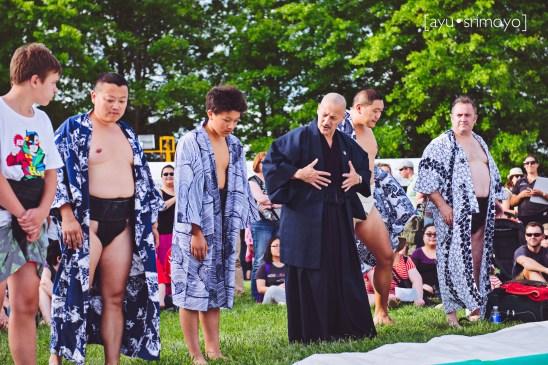 sumo wrestlers, nara candle festival 2014