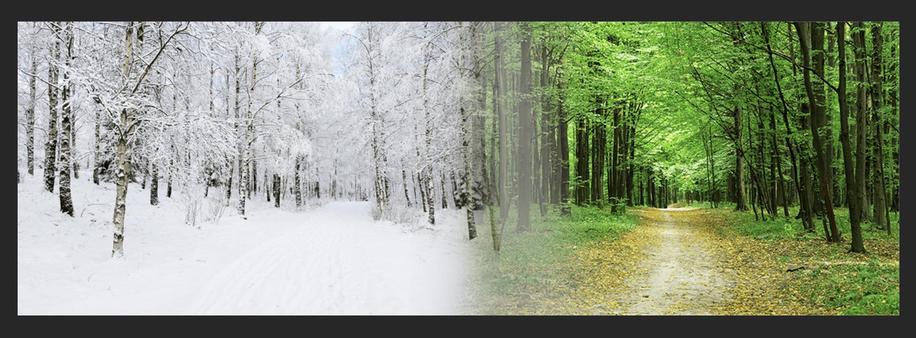 วิธีการเชื่อมต่อภาพถ่ายสองภาพในหนึ่งใน Photoshop