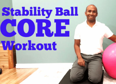 Stability ball exercises for core