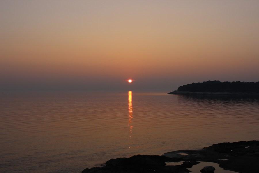 Sonnenuntergang in Pula Kroatien