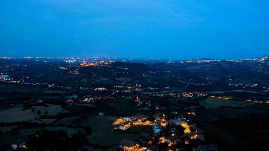 Emilia Romagna San Marino evening