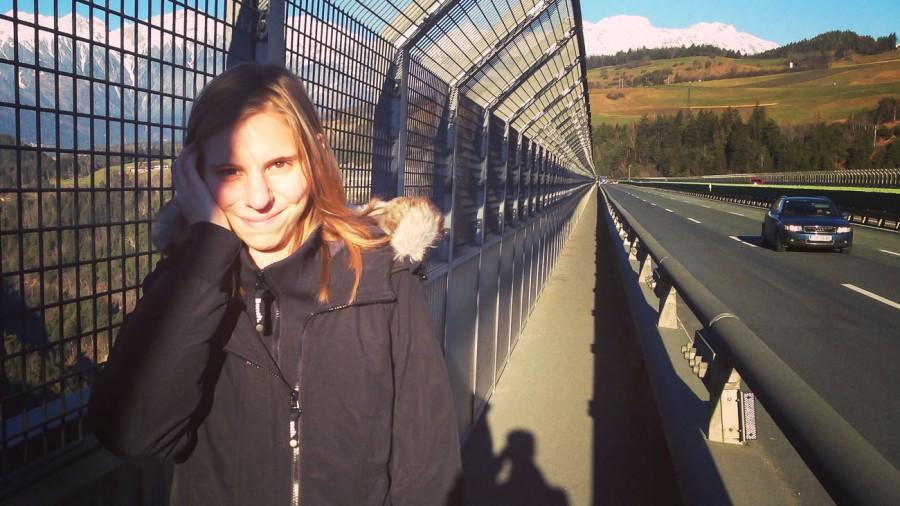 Europabrücke zu Fuß
