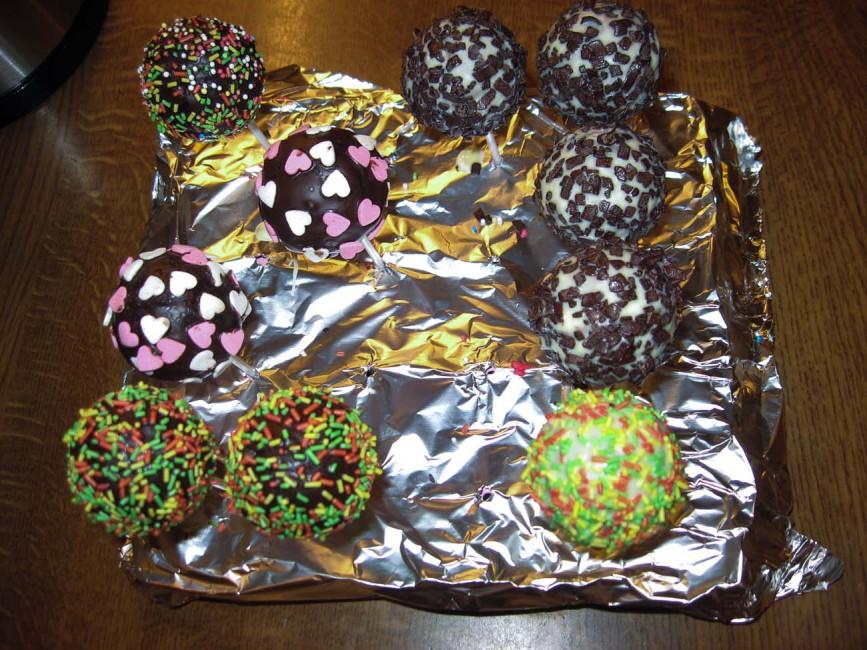 bunte Cake Pops