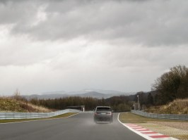 Range Rover Sport on racetrack