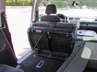 Caddy 4 zurueckgeklappte Hintersitze