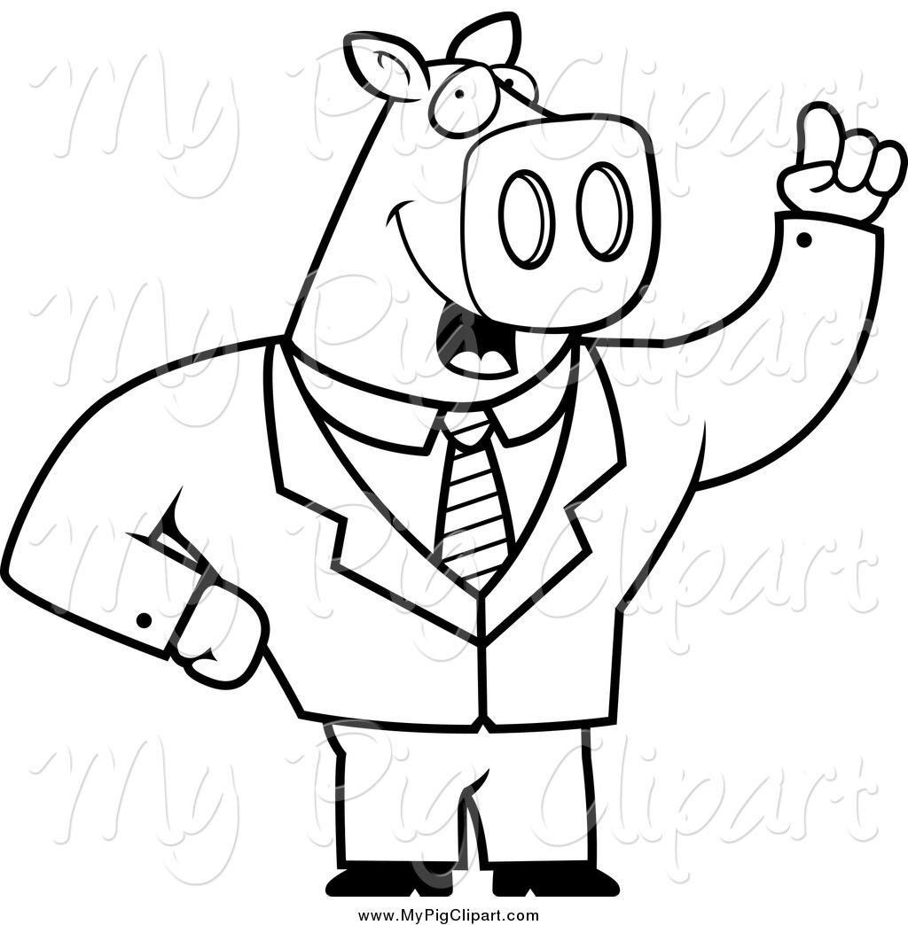 Royalty Free Business Men Stock Pig Designs