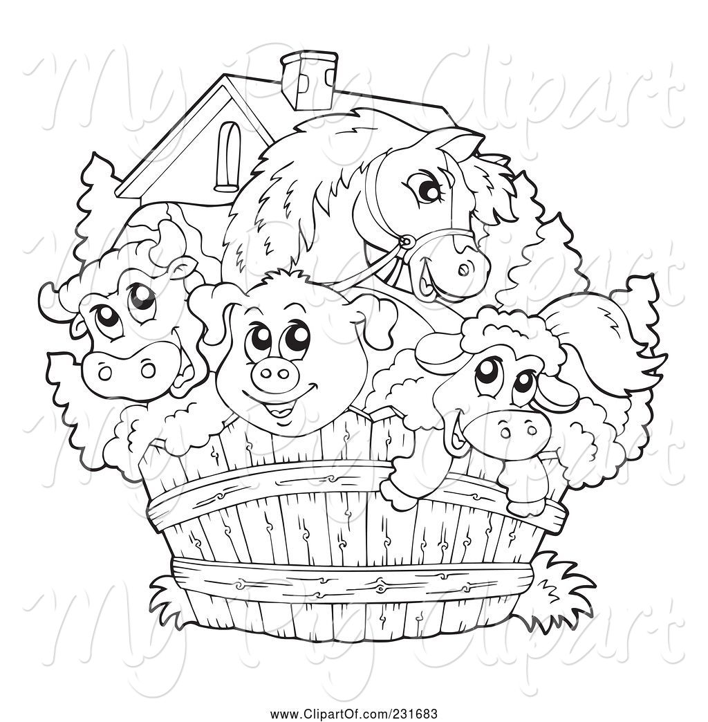 Clipart Cows And Pigs Together