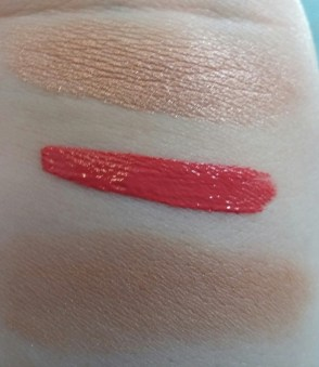 Top: Illuminator Middle: Lip Cream Bottom: Baked Powder