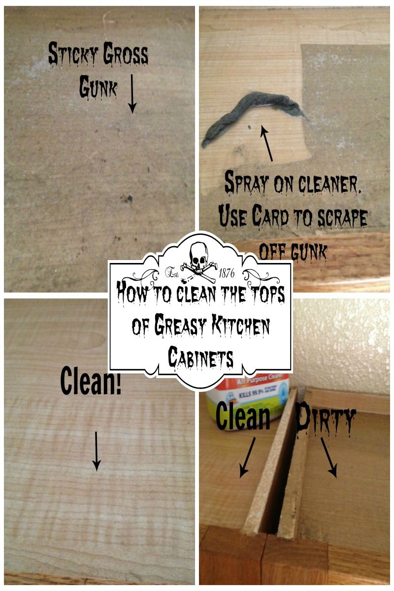 How To Clean The Tops Of Greasy Kitchen Cabinets My