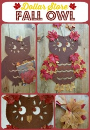 Dollar Store Fall Owl